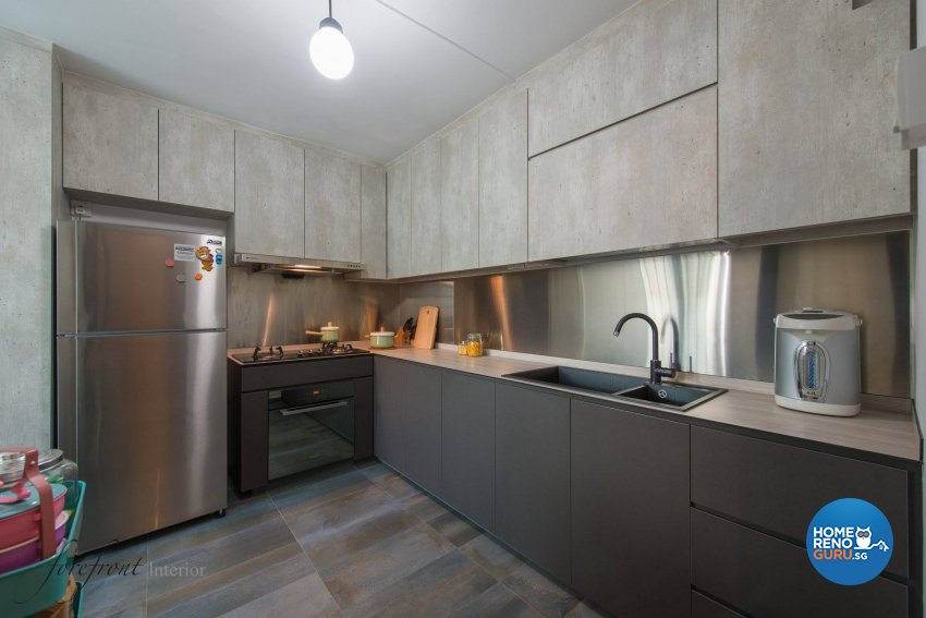 Industrial Design - Kitchen - HDB Executive Apartment - Design by Forefront Interior