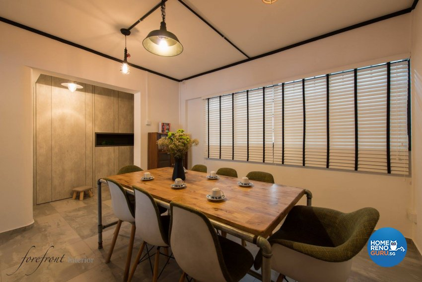 Industrial Design - Dining Room - HDB Executive Apartment - Design by Forefront Interior