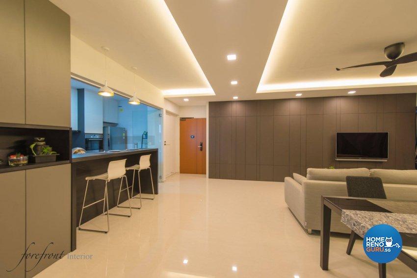 Minimalist Design - Living Room - HDB 5 Room - Design by Forefront Interior
