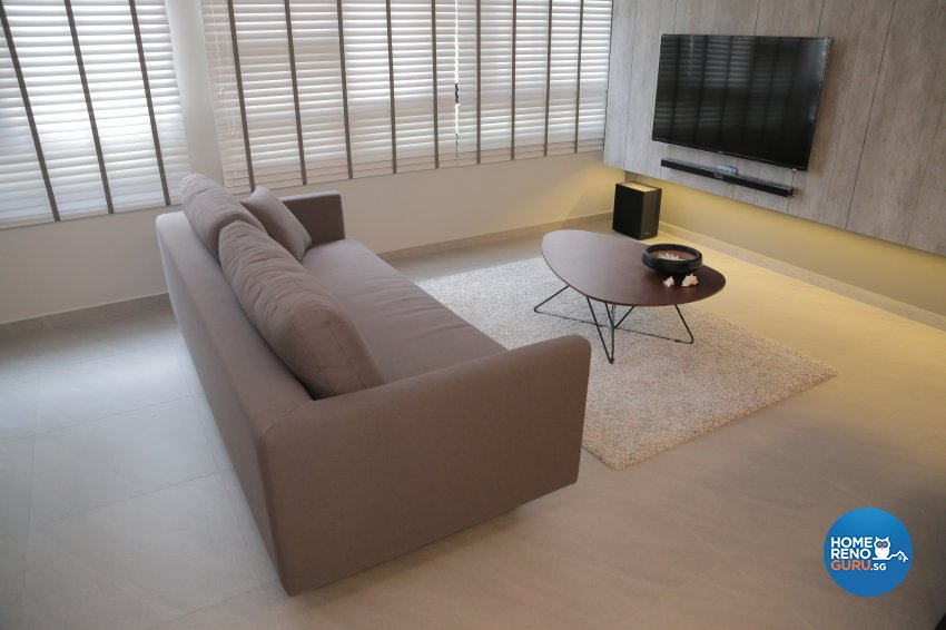 Minimalist Design - Living Room - HDB 5 Room - Design by Forefront Interior