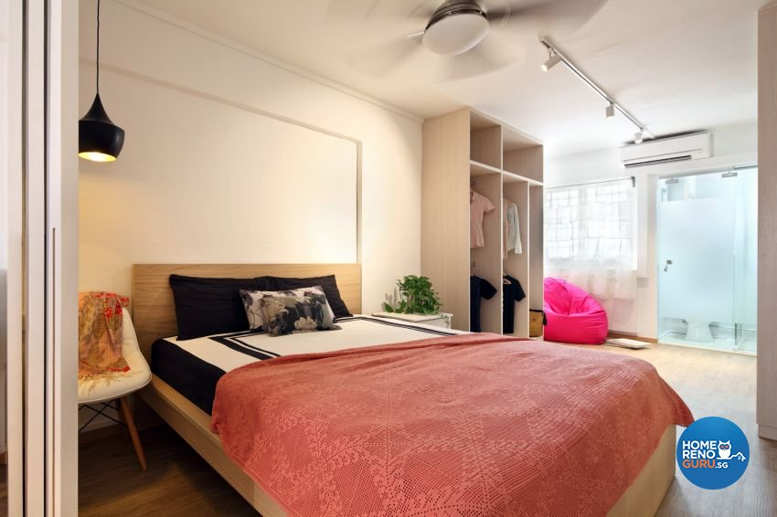 Contemporary Design - Bedroom - HDB 3 Room - Design by form & space pte ltd