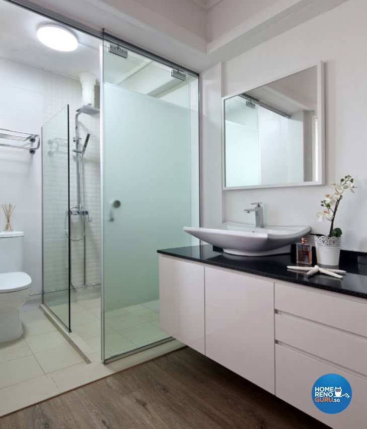Contemporary Design - Bathroom - HDB 3 Room - Design by form & space pte ltd