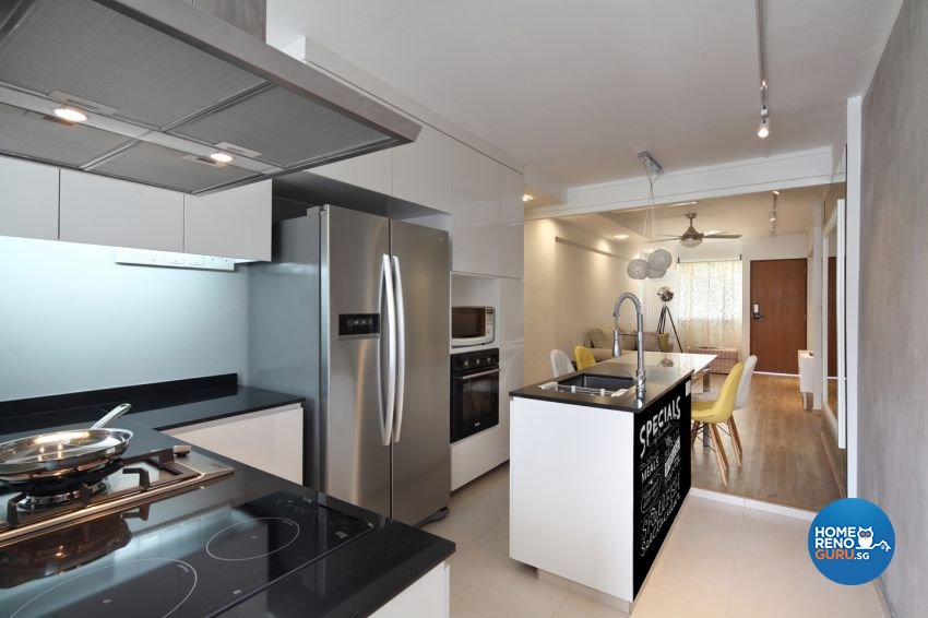 Contemporary Design - Kitchen - HDB 3 Room - Design by form & space pte ltd