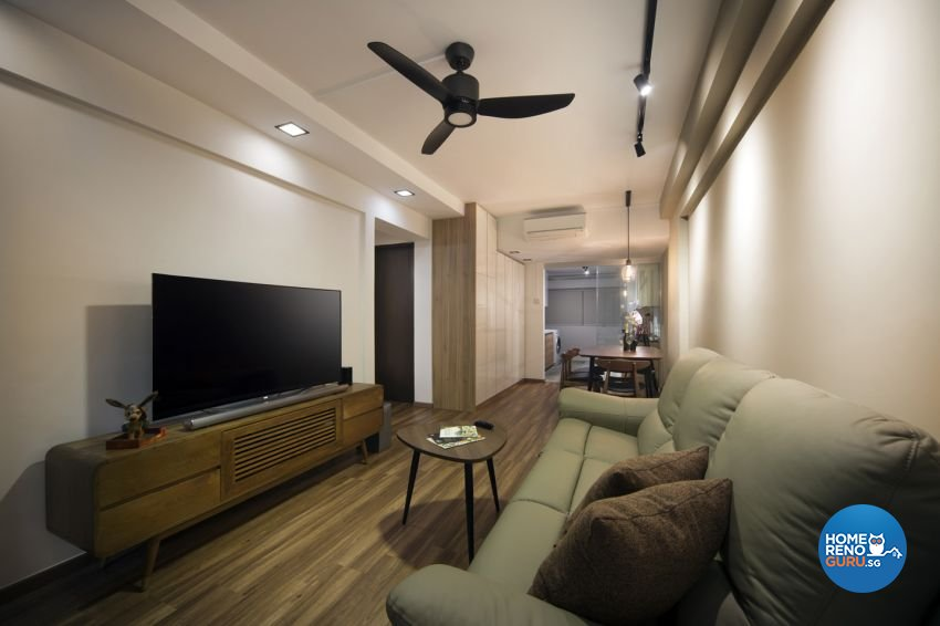 Contemporary, Scandinavian Design - Living Room - HDB 3 Room - Design by form & space pte ltd
