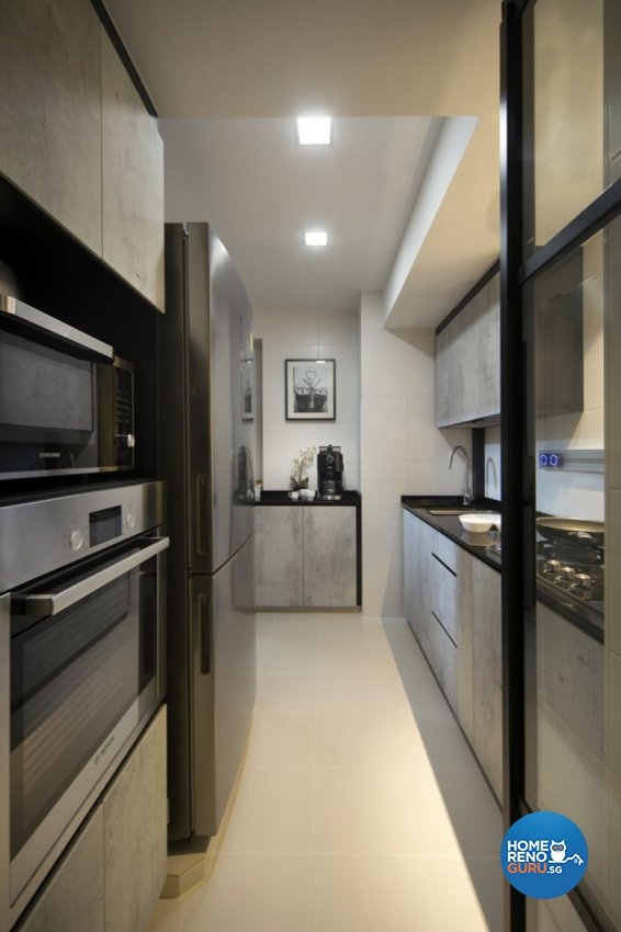 Contemporary, Industrial, Modern Design - Kitchen - HDB 3 Room - Design by form & space pte ltd