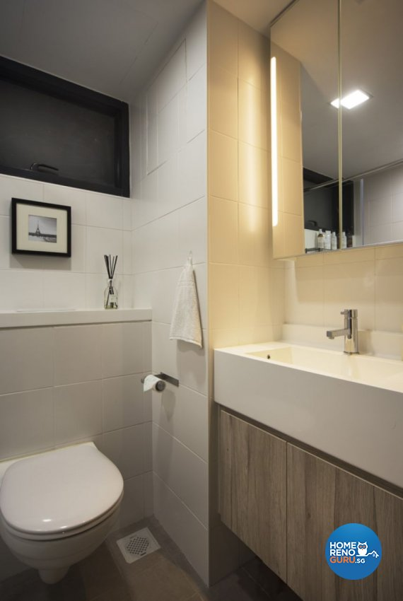 Contemporary, Industrial, Modern Design - Bathroom - HDB 3 Room - Design by form & space pte ltd