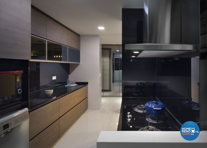 Contemporary Design - Kitchen - HDB 5 Room - Design by form & space pte ltd