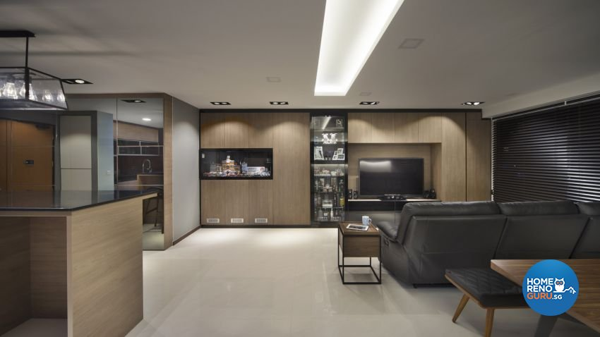 Contemporary Design - Living Room - HDB 5 Room - Design by form & space pte ltd
