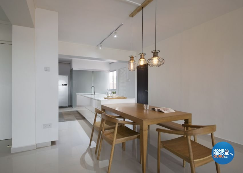 Minimalist, Scandinavian Design - Dining Room - HDB 5 Room - Design by form & space pte ltd