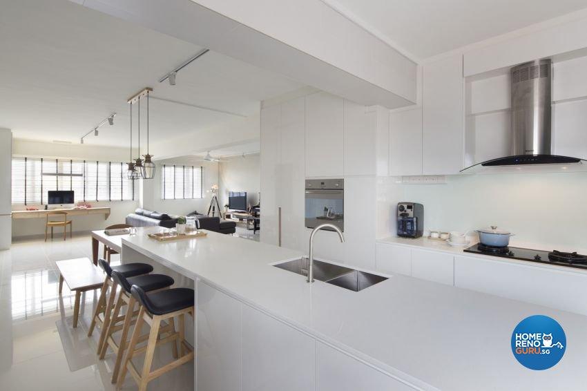 Minimalist, Scandinavian Design - Kitchen - HDB 5 Room - Design by form & space pte ltd