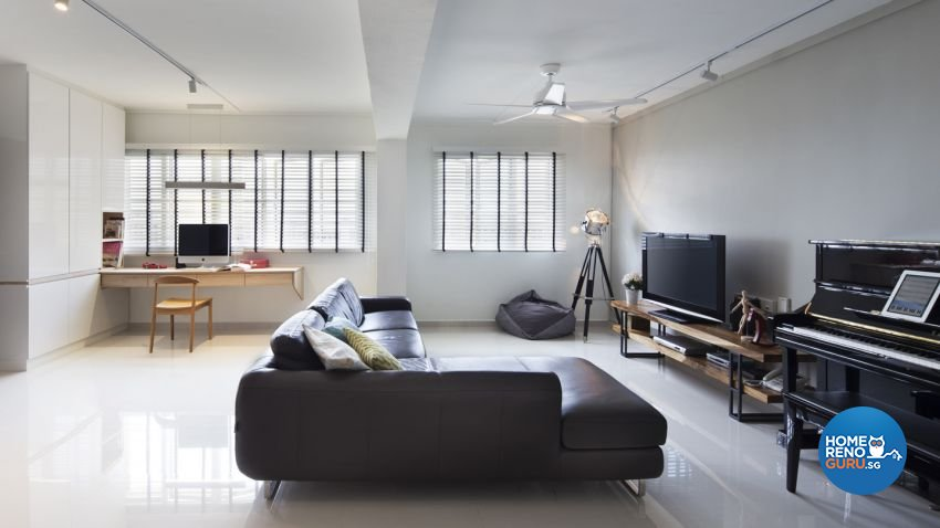 Minimalist, Scandinavian Design - Living Room - HDB 5 Room - Design by form & space pte ltd