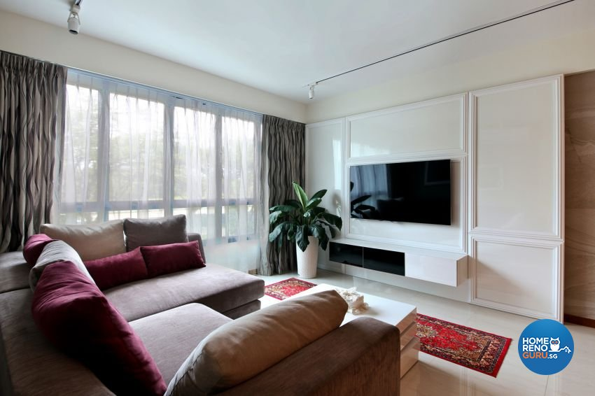 Classical, Modern Design - Living Room - HDB 5 Room - Design by form & space pte ltd