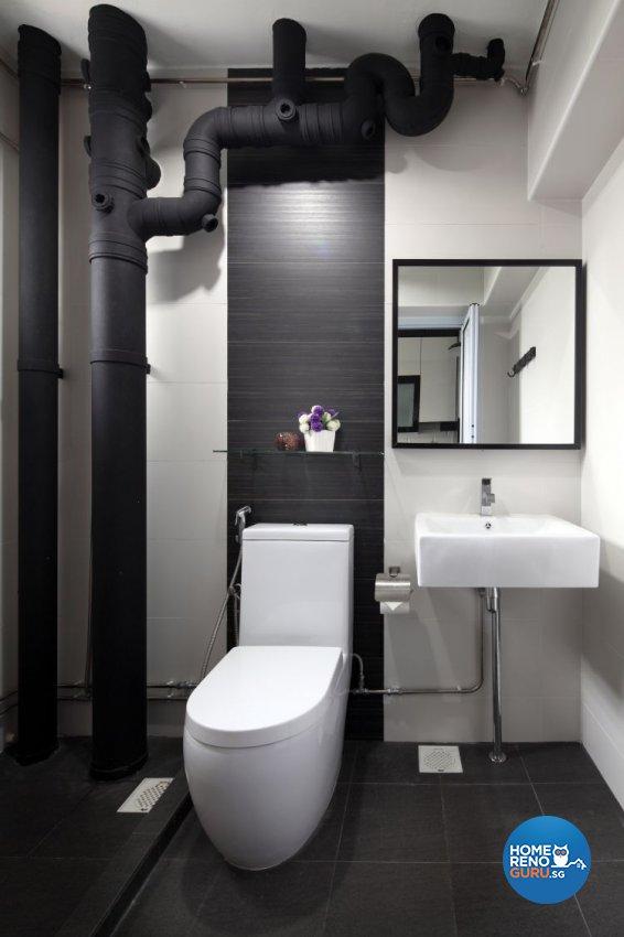 Contemporary, Scandinavian Design - Bathroom - HDB 4 Room - Design by form & space pte ltd