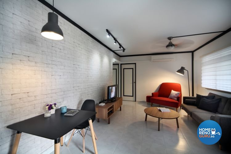 Contemporary, Scandinavian Design - Living Room - HDB 4 Room - Design by form & space pte ltd