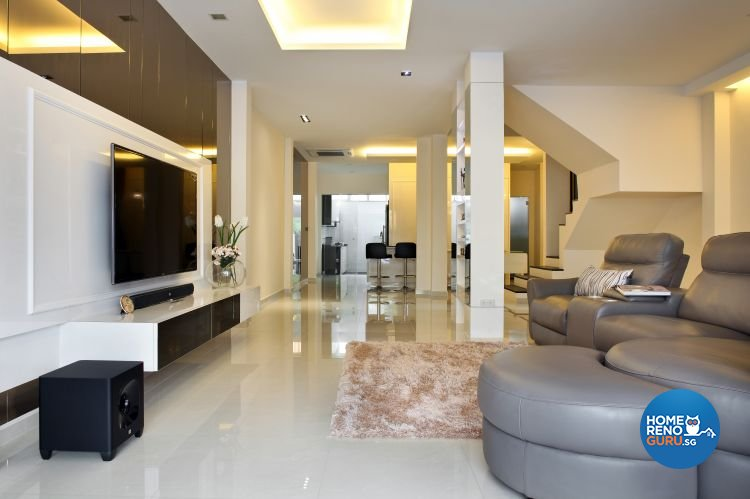 Contemporary, Modern Design - Living Room - Landed House - Design by form & space pte ltd
