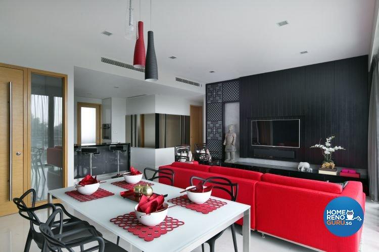 Contemporary, Modern Design - Living Room - Condominium - Design by Fuse Concept Pte Ltd