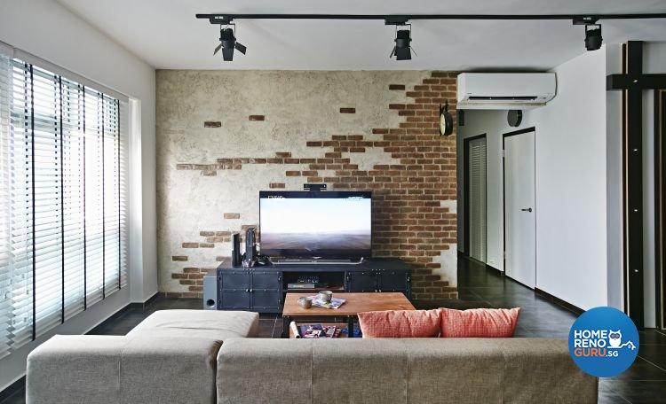 Contemporary, Modern Design - Living Room - HDB 5 Room - Design by Fuse Concept Pte Ltd