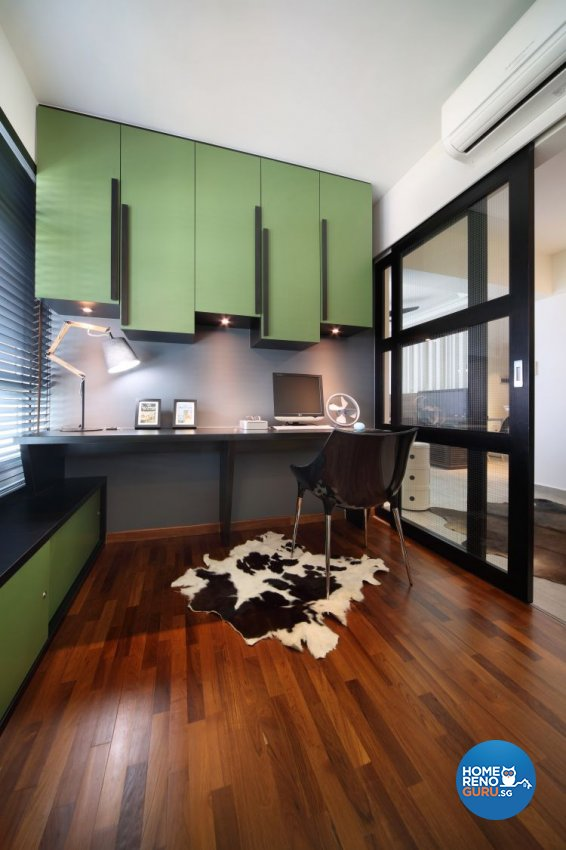 Modern, Scandinavian Design - Study Room - HDB 4 Room - Design by Fuse Concept Pte Ltd