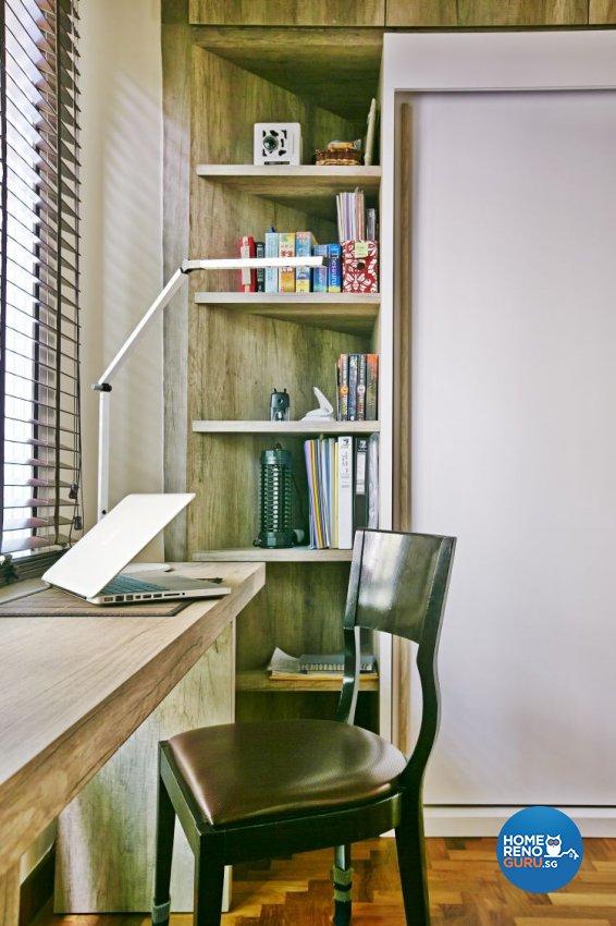 Eclectic, Modern Design - Study Room - Condominium - Design by Fuse Concept Pte Ltd