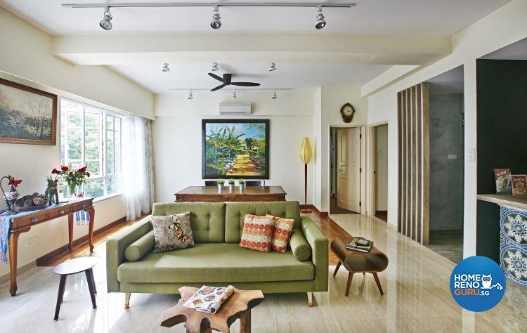 Eclectic, Modern Design - Living Room - Condominium - Design by Fuse Concept Pte Ltd