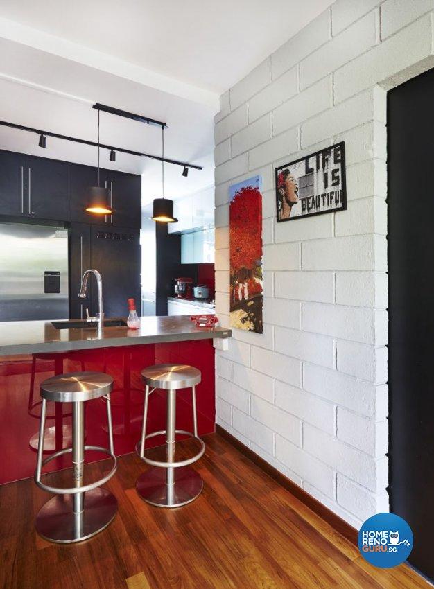 Eclectic, Modern Design - Kitchen - HDB Executive Apartment - Design by Fuse Concept Pte Ltd