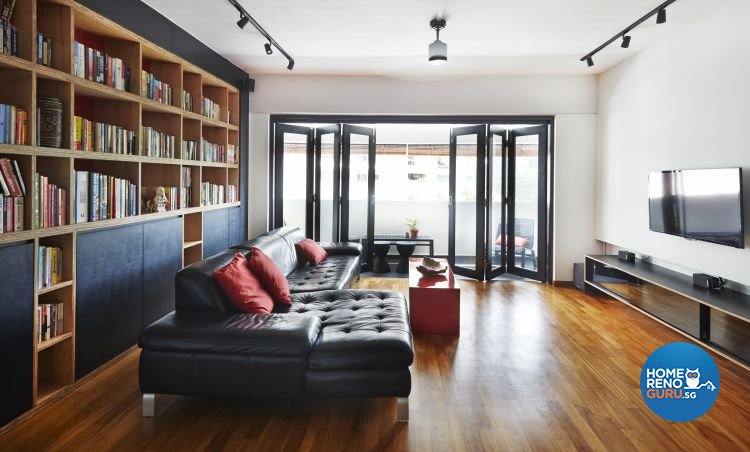 Eclectic, Modern Design - Living Room - HDB Executive Apartment - Design by Fuse Concept Pte Ltd