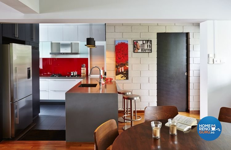 Eclectic, Modern Design - Dining Room - HDB Executive Apartment - Design by Fuse Concept Pte Ltd
