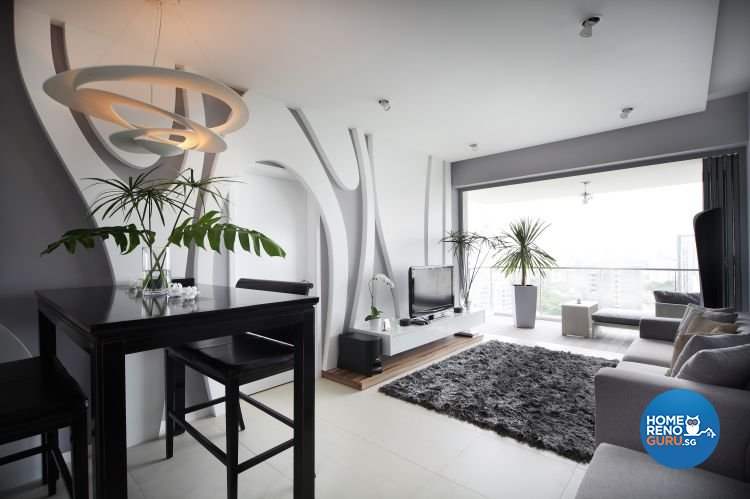 Contemporary, Modern Design - Living Room - Condominium - Design by Fuse Concept Pte Ltd