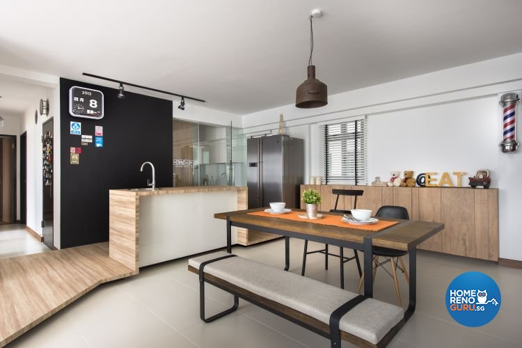 Modern, Scandinavian Design - Living Room - HDB 5 Room - Design by Fuse Concept Pte Ltd