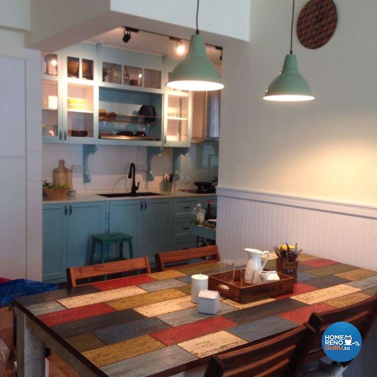 Modern, Scandinavian Design - Dining Room - HDB 4 Room - Design by Fuse Concept Pte Ltd