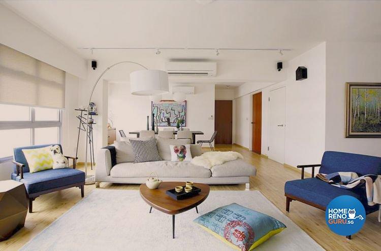 Modern, Scandinavian Design - Living Room - HDB 4 Room - Design by Fuse Concept Pte Ltd