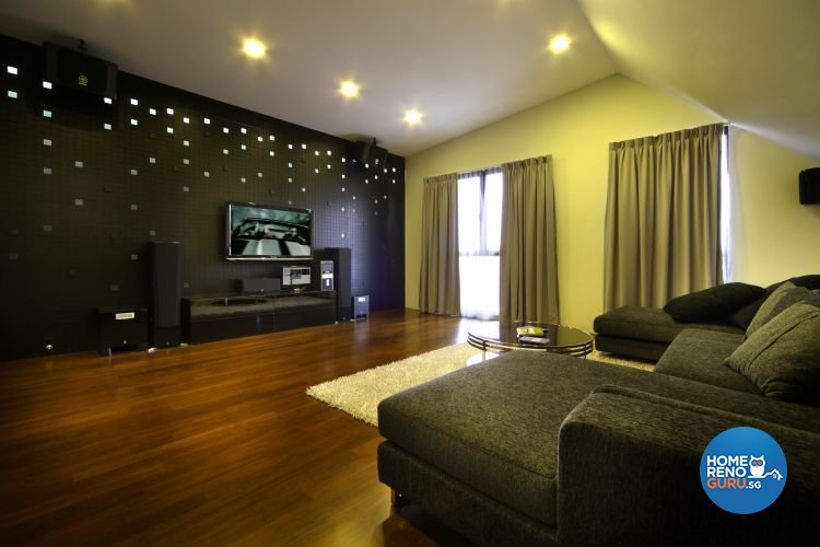 Contemporary, Modern Design - Living Room - Landed House - Design by Fuse Concept Pte Ltd