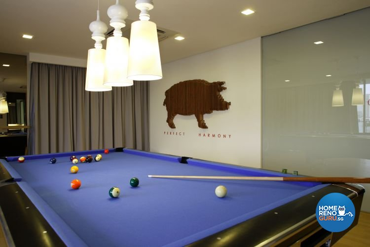 Contemporary, Modern Design - Entertainment Room - Landed House - Design by Fuse Concept Pte Ltd