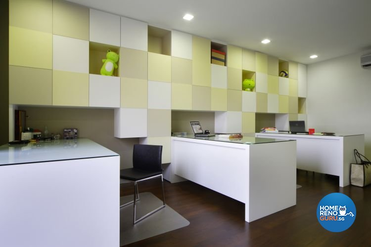 Contemporary, Modern Design - Study Room - Landed House - Design by Fuse Concept Pte Ltd