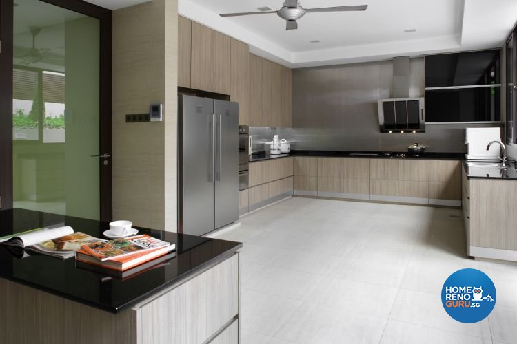 Contemporary, Modern Design - Kitchen - Landed House - Design by Fuse Concept Pte Ltd