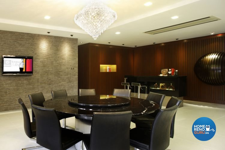 Contemporary, Modern Design - Dining Room - Landed House - Design by Fuse Concept Pte Ltd