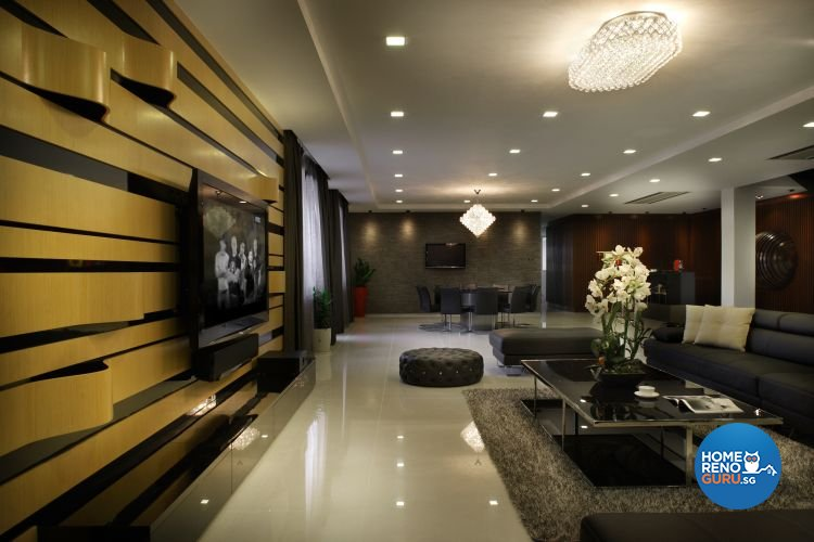 Contemporary, Modern Design - Living Room - Landed House - Design by Fuse Concept Pte Ltd