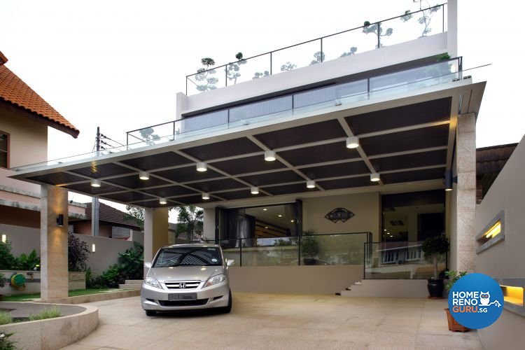 Contemporary, Modern Design - Balcony - Landed House - Design by Fuse Concept Pte Ltd