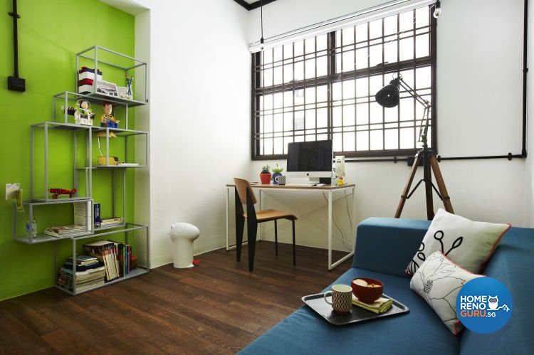 Country, Industrial Design - Study Room - HDB 4 Room - Design by Fuse Concept Pte Ltd