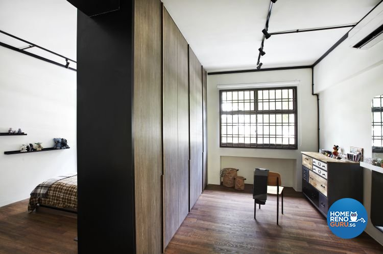 Country, Industrial Design - Bedroom - HDB 4 Room - Design by Fuse Concept Pte Ltd