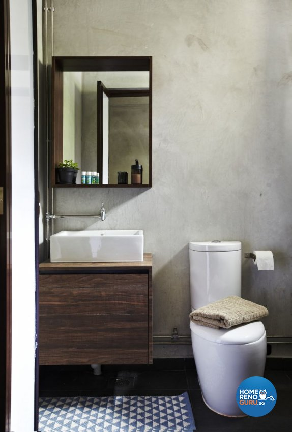 Country, Industrial Design - Bathroom - HDB 4 Room - Design by Fuse Concept Pte Ltd
