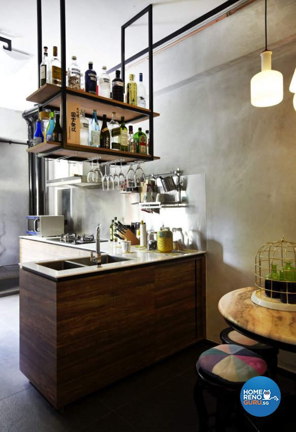 Country, Industrial Design - Kitchen - HDB 4 Room - Design by Fuse Concept Pte Ltd