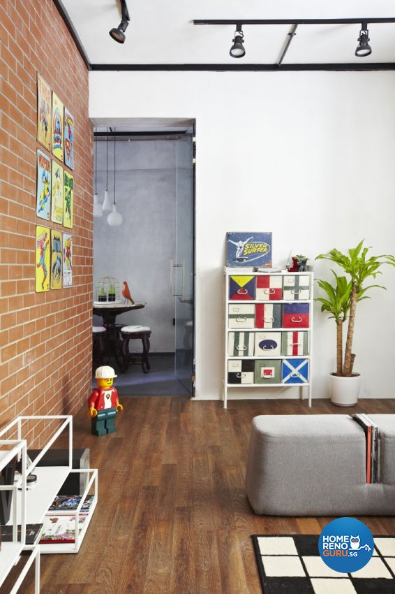 Country, Industrial Design - Living Room - HDB 4 Room - Design by Fuse Concept Pte Ltd
