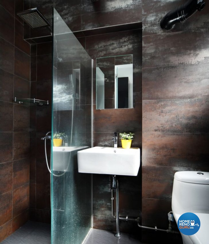 Contemporary, Eclectic Design - Bathroom - HDB 5 Room - Design by Fuse Concept Pte Ltd