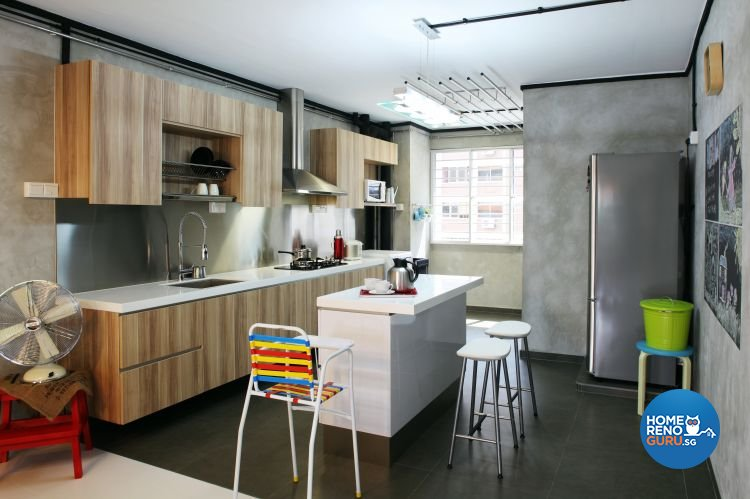 Contemporary, Eclectic Design - Kitchen - HDB 5 Room - Design by Fuse Concept Pte Ltd