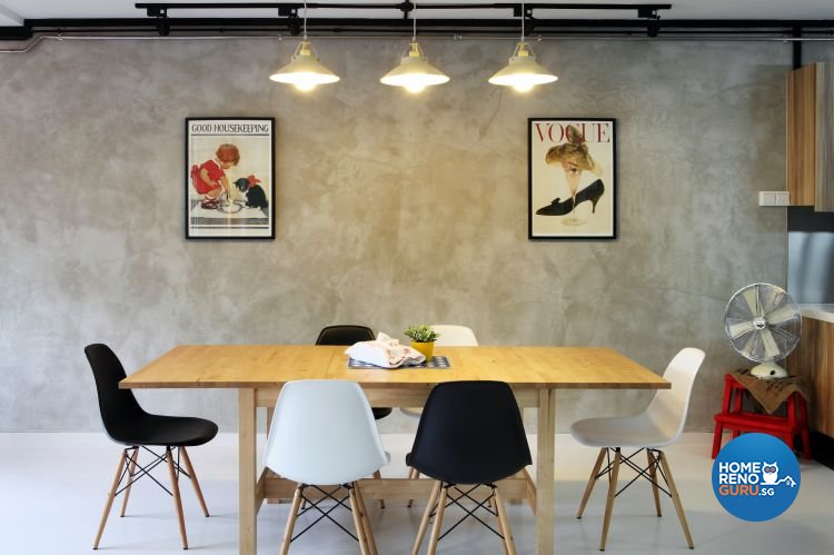 Contemporary, Eclectic Design - Dining Room - HDB 5 Room - Design by Fuse Concept Pte Ltd