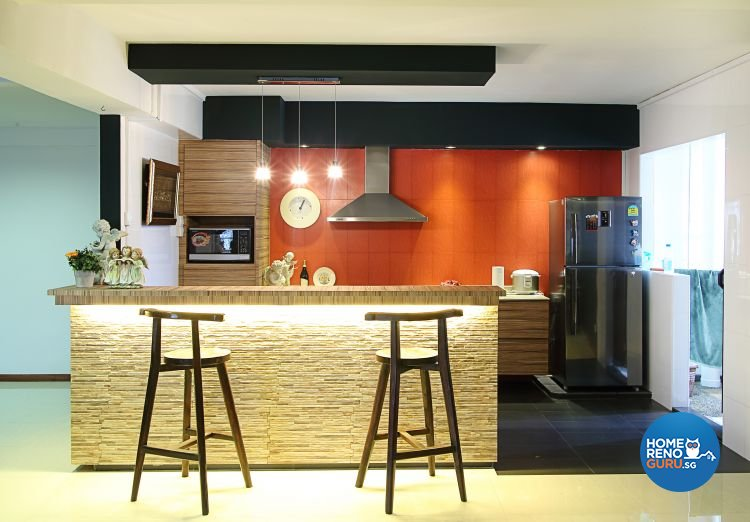 Contemporary, Modern, Vintage Design - Kitchen - HDB 5 Room - Design by Genesis ID Pte Ltd