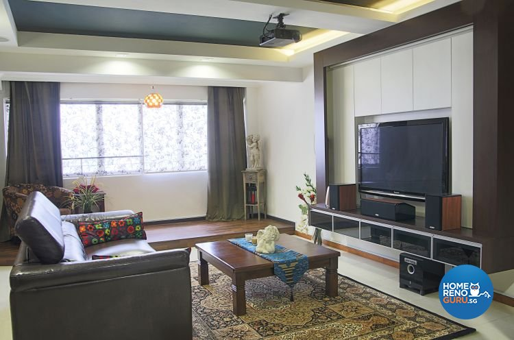 Contemporary, Modern, Vintage Design - Living Room - HDB 5 Room - Design by Genesis ID Pte Ltd