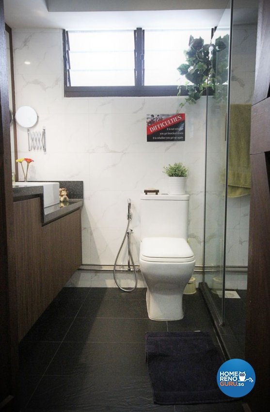 Contemporary, Modern, Vintage Design - Bathroom - HDB 5 Room - Design by Genesis ID Pte Ltd