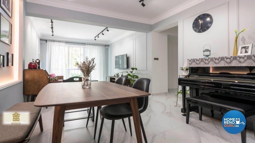Vintage Design - Dining Room - Condominium - Design by Goodman Interior Pte Ltd